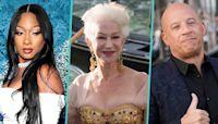 Helen Mirren Dances With Vin Diesel & Megan Thee Stallion At Dolce & Gabbana Show