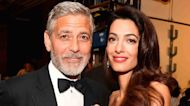 George Clooney Sews Clothes For Wife Amal Clooney & Their Twins