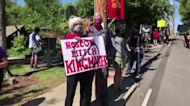 Protestors express 'dissent' outside McConnell home