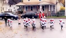 Teacher's epic Cruella de Vil Halloween costume with her '101 Dalmatian' pre-schoolers goes viral