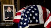 Tears, push-ups mark historic goodbye for Ginsburg at U.S. Capitol
