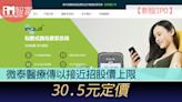 【新股IPO】微泰醫療2235傳以接近招股價上限30.5元定價 - 香港經濟日報 - 即時新聞頻道 - iMoney智富 - 股樓投資