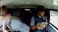 Dramatic scene: Armored car driver dodges bullets during heist attempt