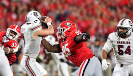 Bulldogs bite: No. 2 Georgia too much for Gamecocks in Beamer's first loss as coach