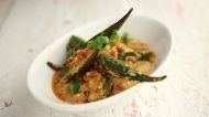 Yahoo brings Vikas@home: Stuffed Bhindi in Tomato Sauce