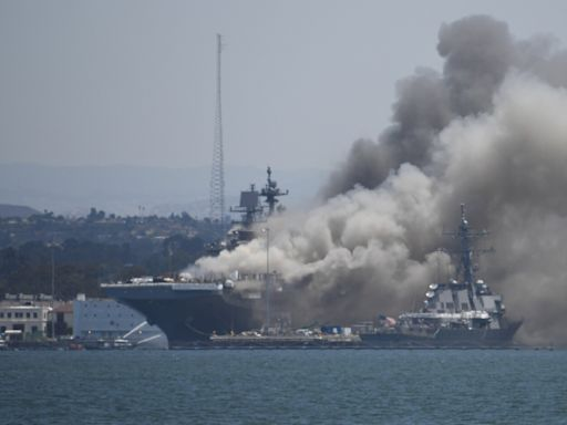 Navy sailor charged for fire that wrecked USS Bonhomme Richard