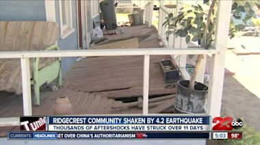 Ridgecrest community shaken by 4.2 magnitude earthquake
