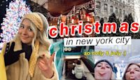 VLOG: christmas in new york city! // shopping, holiday markets, rockettes, and snow!