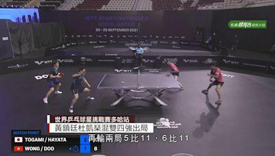 WTT挑戰賽 黃鎮廷、杜凱琹混雙四強出局
