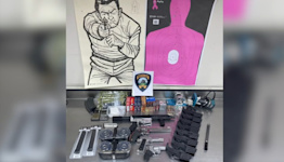 Merced police seize large stack of weapons, suspect on the run