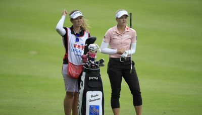 Brooke Henderson will compete this week on the LPGA without sister Brittany on the bag for first time in five years