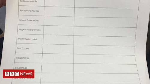 Pupils asked to vote for 'best looking' peer