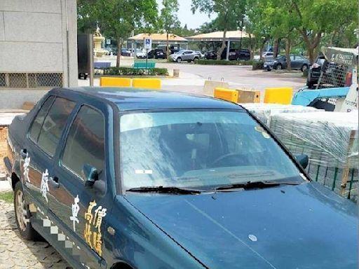金門廣告車長期佔用停車位 警方硬起來要加強查報