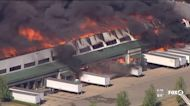 Massive fire at Illinois chemical plant
