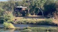 Drone Footage Captures Migrants Crossing Rio Grande