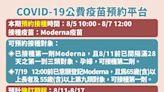 第五輪莫德納8/11開打 65歲以上長者與55歲以上重罕病優先