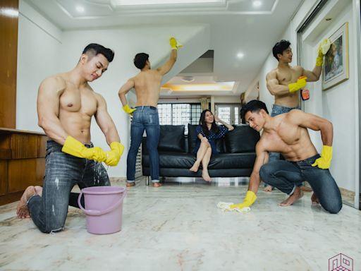 新加坡公司推猛男清潔服務 半裸小鮮肉上門做鐘點