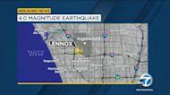 Earthquake swarm, including 4.0 magnitude temblor, strikes near Lennox