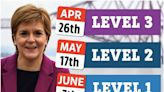 Sturgeon hoping Scotland 'back to normality by July' as she sets out level dates