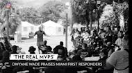 Dwyane Wade Visits Miami Condo Collapse Memorial: 'First Responders are the Real MVPs'