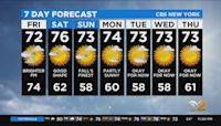 New York Weather: CBS2 9/23 Nightly Forecast at 11PM