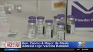 Gov. Andrew Cuomo, Mayor Bill De Blasio Address High COVID Vaccine Demand
