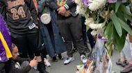 Kobe Bryant Fans Pay Tribute to NBA Star Outside Staples Center