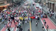 Pro-Palestinian Protesters Gather in New York Amid Jerusalem Flag March