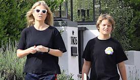Gwyneth Paltrow & Chris Martin's Son Moses, 13, Looks So Much Like Dad On Stroll With Mom