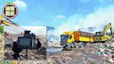 【獨家】草屯5噸垃圾山自燃3天才控制 水利署嚇到要出3億移山