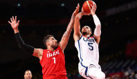 Olympics-Basketball-USA get back on track with blow-out win against Iran