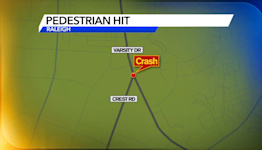 Pedestrian hospitalized after being struck near NC State