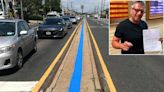 NYC artist says he's being targeted over thin blue line painting on street