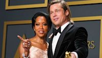 Brad Pitt and Regina King's Sweet Encounter at the Oscars Has Twitter Hoping for a Rom-Com