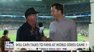 Will Cain talks to fans at World Series Game 1 in Houston