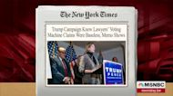 Trump campaign knew voting machine claims were baseless: NYT