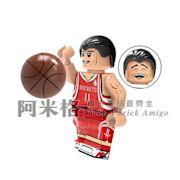 阿米格Amigo│XP147 Yao Ming 姚明 NBA 火箭隊 籃球明星 球星 積木 第三方人仔 滿30隻包郵