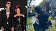 Kourtney Kardashian Straddles Travis Barker For Steamy Kiss At Disneyland: 'I Want Your Skull'