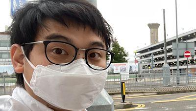 前深水埗區議員李文浩FB發文 稱已離港抵英