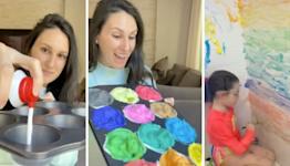 DIY washable paint makes bath time a blast for kids