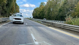 Hole on I-40 bridge near Statesville closes part of highway through weekend, troopers say