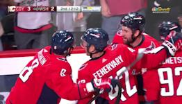 Martin Fehervary with a Goal vs. Calgary Flames