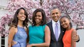 The Obama Family Sat Down For a Rare Family Photo