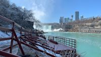 Niagara Falls has a new viewing platform that's open in the winter and lets you get right up to the freezing waterfalls — here's what it's like to visit