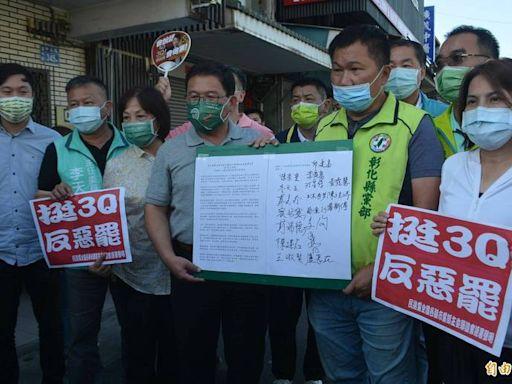 力挺陳柏惟反惡罷 民進黨縣市主委發聲明︰繼續守護台灣民主