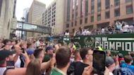 Bucks Fans Chant as Milwaukee Team Celebrates NBA Championship With Parade