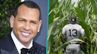 Alex Rodriguez Tours Field Of Dreams Ballpark In Yankees Uniform Ahead Of Big Game