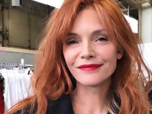 Michelle Pfeiffer Shows Off Her Cherry Red Hair from Filming New Movie, French Exit