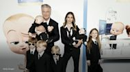 Alec and Hilaria Baldwin wear matching suits with their 6 kids to 'Boss Baby 2' premiere