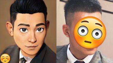 台網紅玩迪士尼風自拍照意外撞臉劉德華 4張圖揭驚人變化